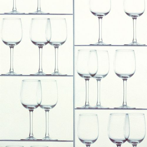 Wallpaper Rasch wine glass design white grey 879803