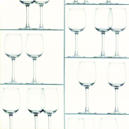 Wallpaper Rasch wine glass design white blue green 879810