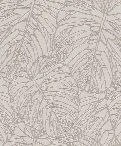 Wallpaper Rasch Blue Velvet leaves taupe gloss 609332 online kaufen