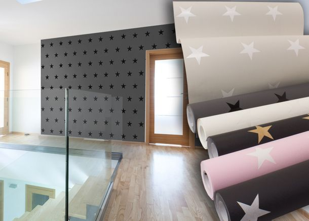 Wallpaper Stars Pattern Star Design HOMEFACTO:RI online kaufen