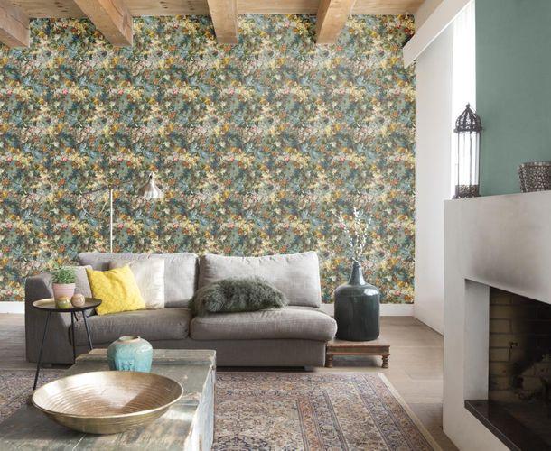 Wallpaper Rasch Passepartout plain blue green 606348 online kaufen