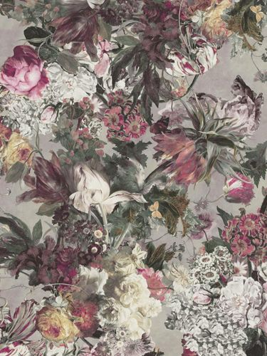 Wallpaper panel Rasch Passepartout flowers purple 606843 online kaufen