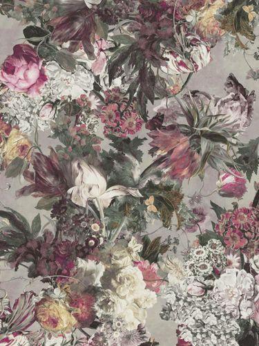 Fototapete Rasch Passepartout Blumen lila bunt 606843 online kaufen