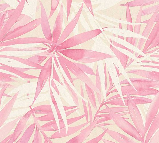 Wallpaper Designdschungel palm-leaves rose 34125-3 online kaufen