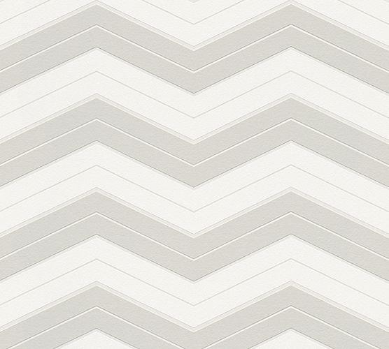 Wallpaper Designdschungel zigzag light grey 34242-1