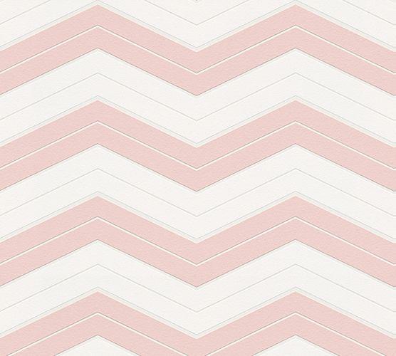 Wallpaper Designdschungel zigzag rose 34242-2