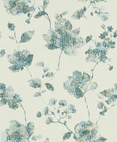 Wallpaper flowers petrol glitter Erismann 5988-08