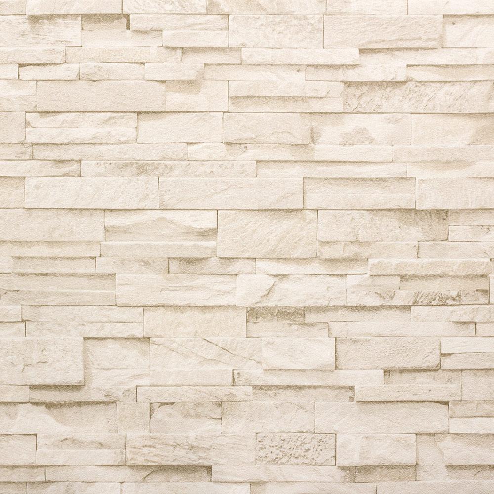 Vliestapete steinoptik beige  Vliestapete Stein 3D Optik beige creme Mauer P+S 02363-50