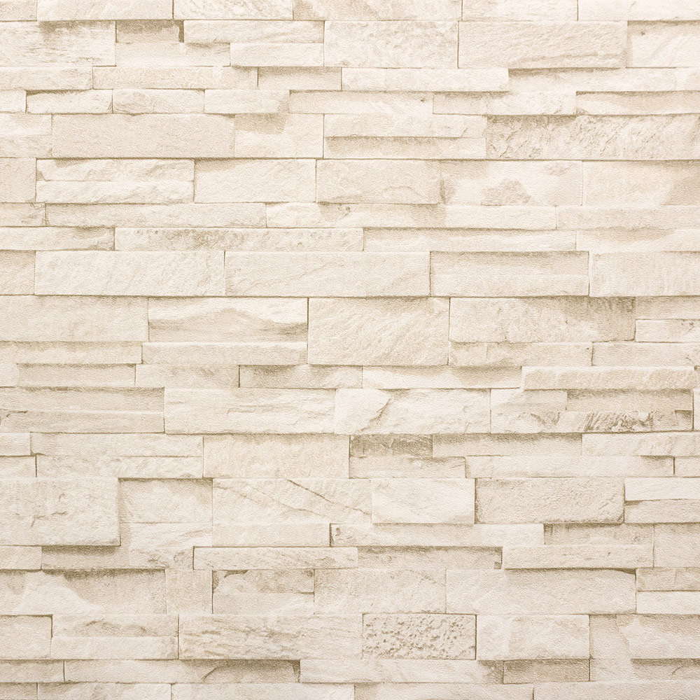 Wallpaper beige cream stone brick wall 3D PS 02363-50 001