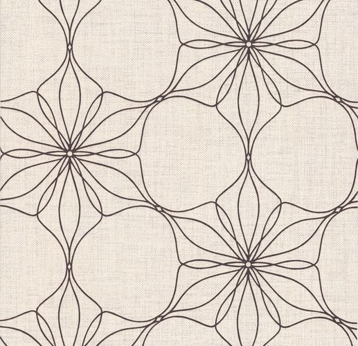 Wallpaper bloom floral beige cream gloss P+S 13523-50 online kaufen