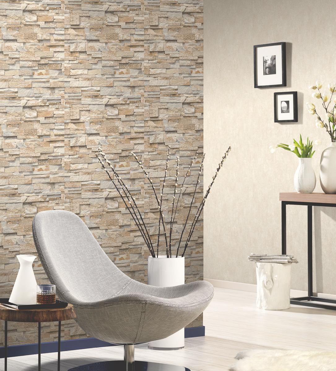 Steintapete 3d vliestapete stein optik p s einfach sch ner for Steintapete grau wohnzimmer