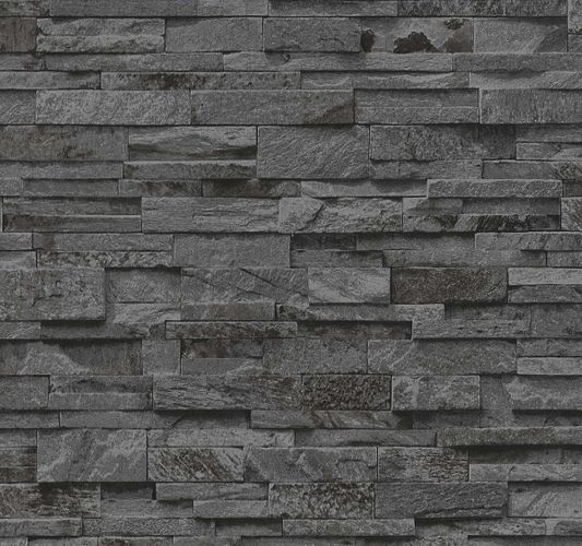 Non-woven wallpaper 3D stone stones wall brick P+S online kaufen