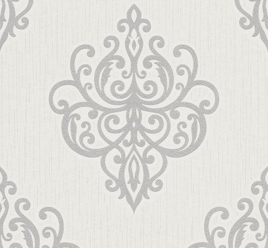 Wallpaper glitter baroque white grey P+S 02491-30 online kaufen