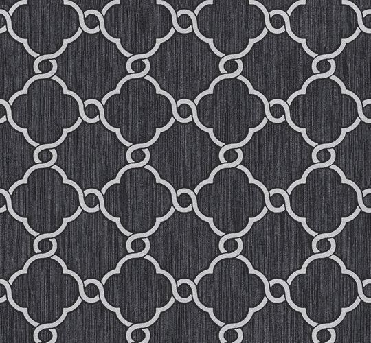 Wallpaper glitter ornaments black grey P+S 02493-10 online kaufen