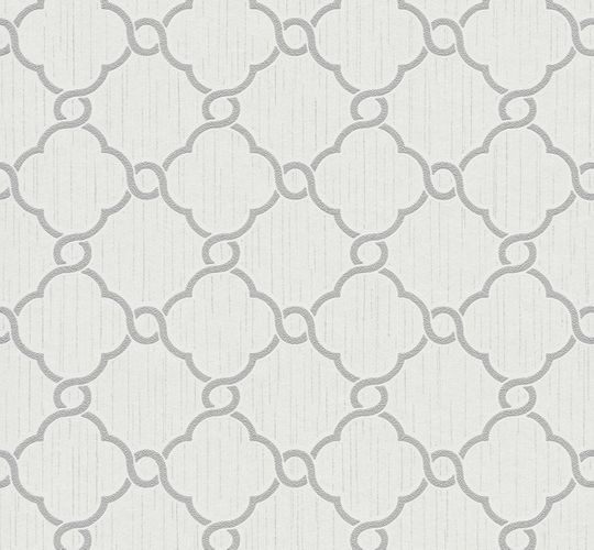 Wallpaper glitter ornaments white grey P+S 02493-30 online kaufen