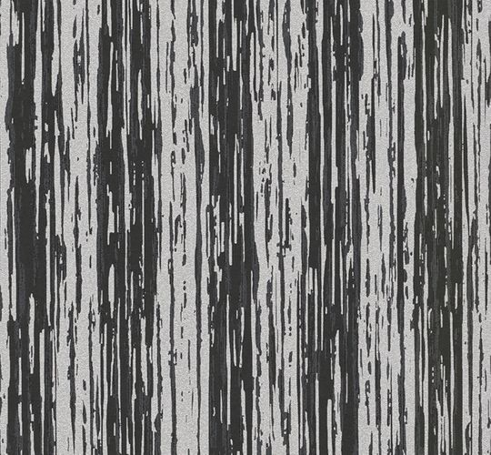 Wallpaper glitter stripes used black grey P+S 02495-20 online kaufen
