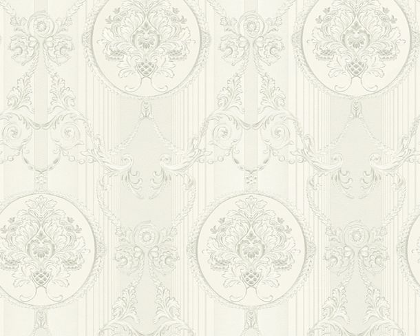 Wallpaper Hermitage ornaments silver Metallic 33083-3