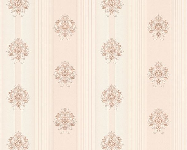 Wallpaper Hermitage stripes floral rose Metallic 33084-5 online kaufen
