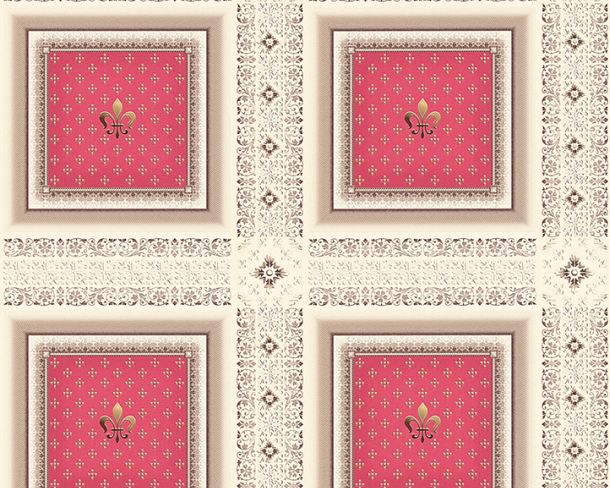 Wallpaper Hermitage cassette baroque red Metallic 33541-3 online kaufen