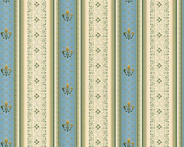 Wallpaper Hermitage stripes baroque blue Metallic 33542-2 online kaufen