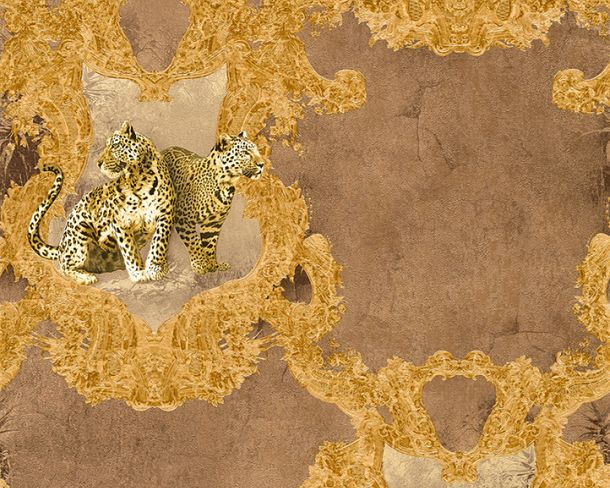 Wallpaper Hermitage leopard brown Metallic 33543-3 online kaufen