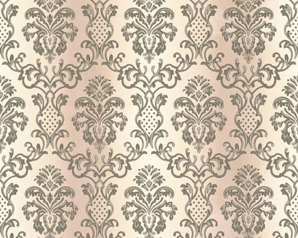Wallpaper Hermitage baroque ornaments cream grey Metallic 33545-1