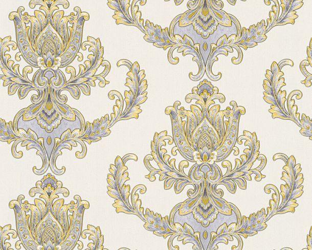 Vliestapete Hermitage Barock Floral weiß Metallic 33546-2 online kaufen