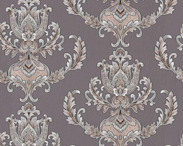 Vliestapete Barock Floral silbergrau Metallic 33546-5 online kaufen