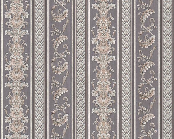 Wallpaper Hermitage stripes tendril silver grey Metallic 33547-5 online kaufen
