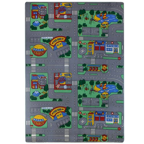 Kids Rug Street Carpet City Playmat Boys Girls 133x190cm