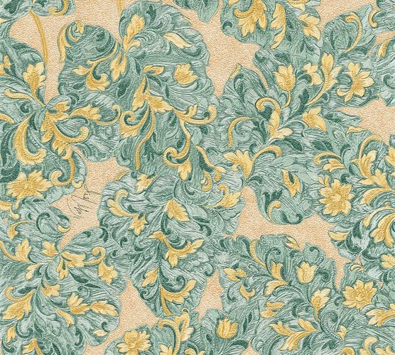 Wallpaper Wolfgang Joop tendril turquoise Metallic 33869-1 online kaufen