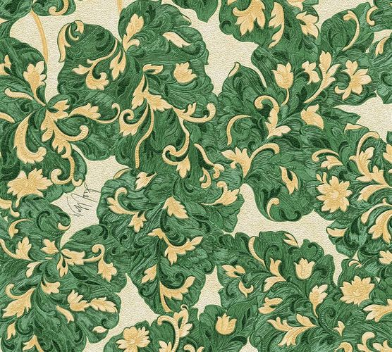 Wallpaper Wolfgang Joop tendril green Metallic 33869-3