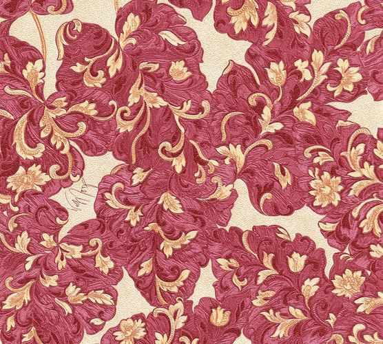 Wallpaper Wolfgang Joop tendril red purple Metallic 33869-5