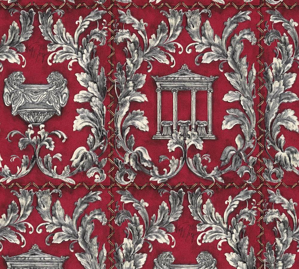 tapete wolfgang joop antik tempel rot glitzer 34086 1. Black Bedroom Furniture Sets. Home Design Ideas