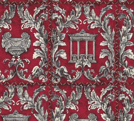Wallpaper Wolfgang Joop greek temple red glitter 34086-1