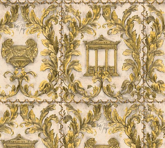 Wallpaper Wolfgang Joop greek temple gold glitter 34086-4