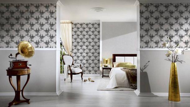 Wallpaper flower tendril silver white gloss AS 1102-20 online kaufen