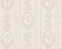 Wallpaper baroque stripes cream beige gloss AS 1861-33 001