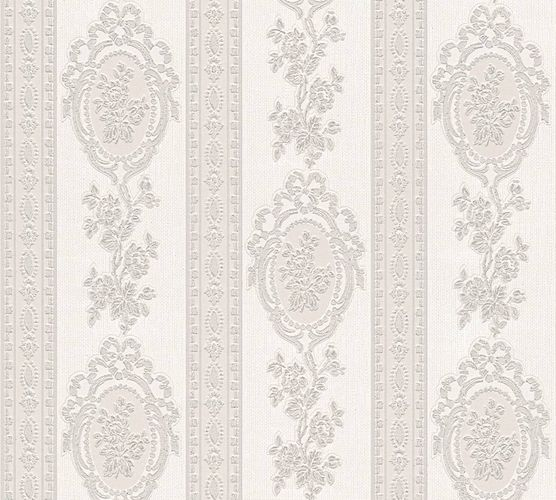Wallpaper baroque stripes grey gloss AS 1861-57