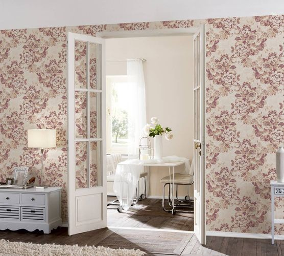 Wallpaper flower floral nature maroon gloss AS 33864-5 online kaufen
