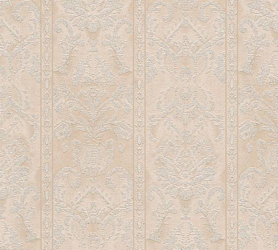 Wallpaper ornaments stripes beige gloss AS 33865-1