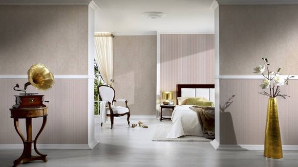 Wallpaper ornaments stripes beige gloss AS 33865-1 online kaufen