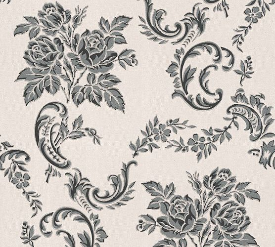 Wallpaper tendril floral silver grey gloss AS 33867-3 online kaufen