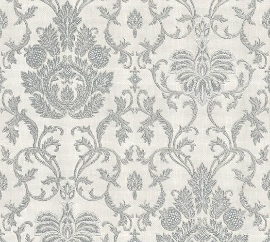 Wallpaper baroque ornaments grey gloss AS 3390-10