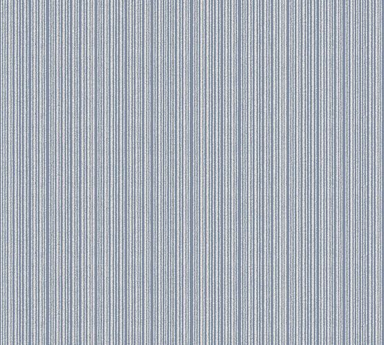 Wallpaper stripes textured blue gloss AS 3404-74
