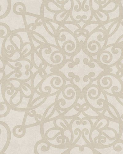 Wallpaper ornament cream beige metallic Marburg 58606