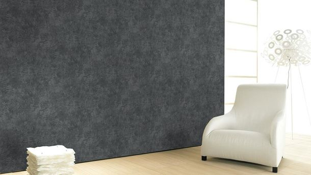 Wallpaper plaster vintage anthracite metallic Marburg 58613 online kaufen