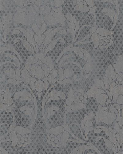 Wallpaper tendrils vintage anthracite metallic Marburg 58627 online kaufen
