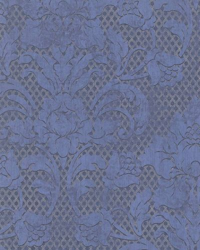 Wallpaper tendrils vintage blue metallic Marburg 58631 online kaufen