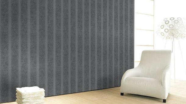Vliestapete Streifen grau anthrazit metallic Marburg 58637 online kaufen